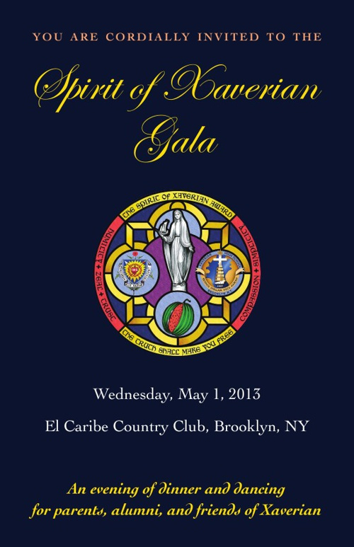 Spirit of Xaverian Gala Invitation