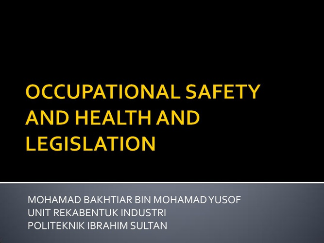 AW 101 OCCUPATIONAL SAFETY AND HEALTH 1