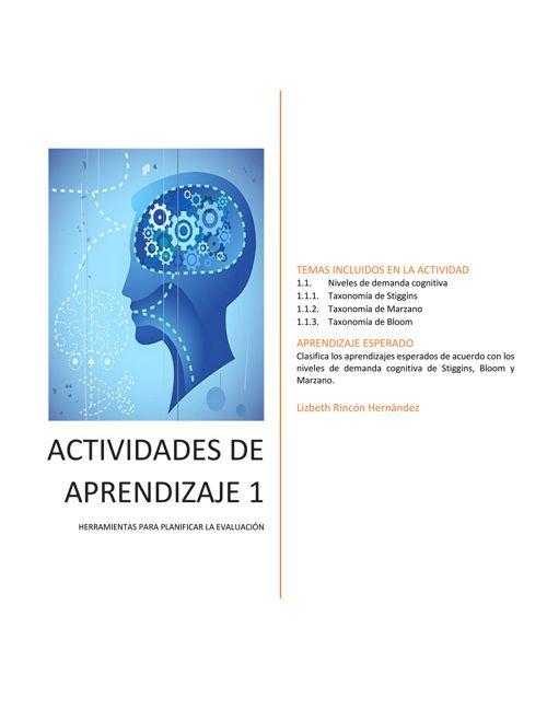 ACTIVIDAD DE APRENDIZAJE 1 (HERRAMIENTAS PARA PLANIFICAR LA EVAL
