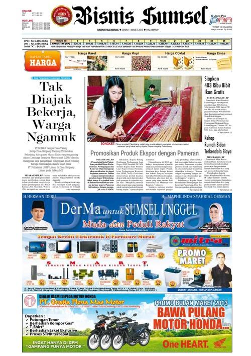 Radar Palembang Edisi 11-03-2013 Koran 2
