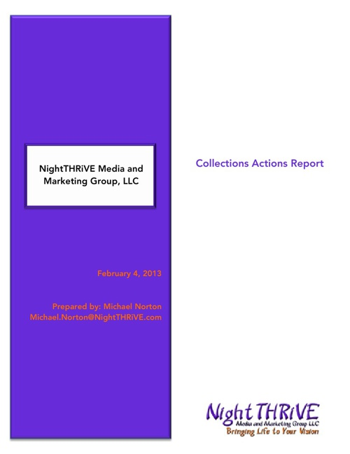 NightTHRiVE Collections Actions Document