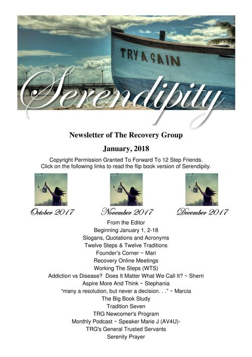 01 Serendipity ~ January 2018