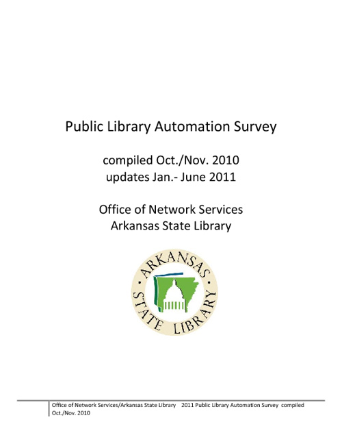 Public Library Automation Survey Results