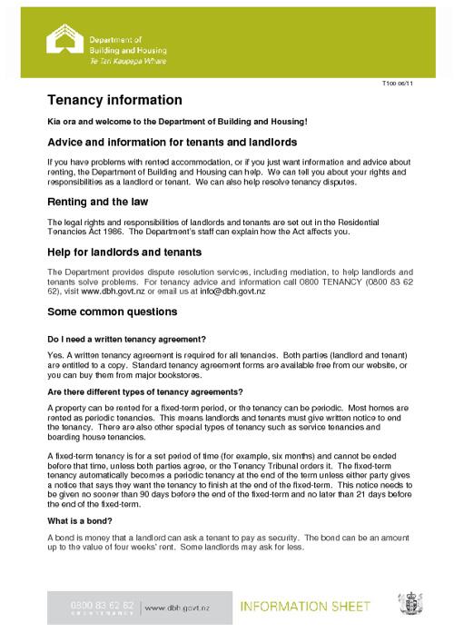 Tenancy Info