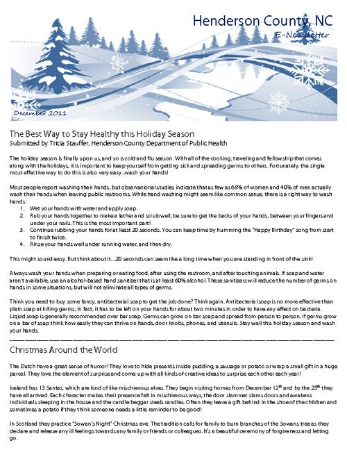 December E-Newsletter
