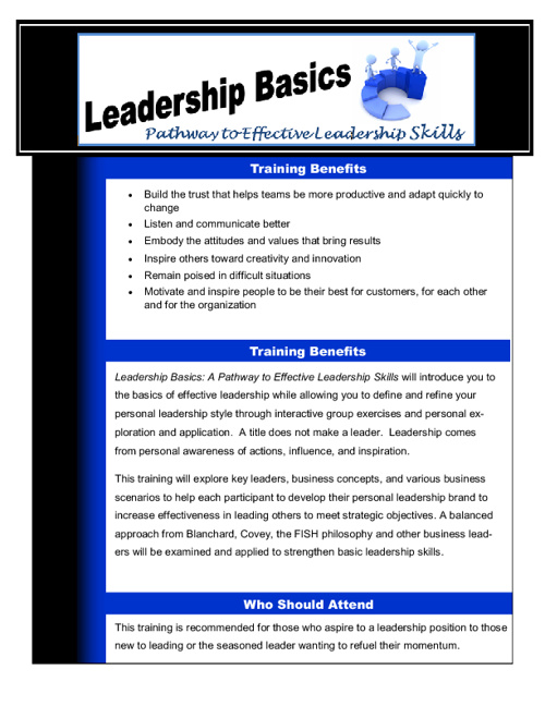Leadership Basics Syllabus