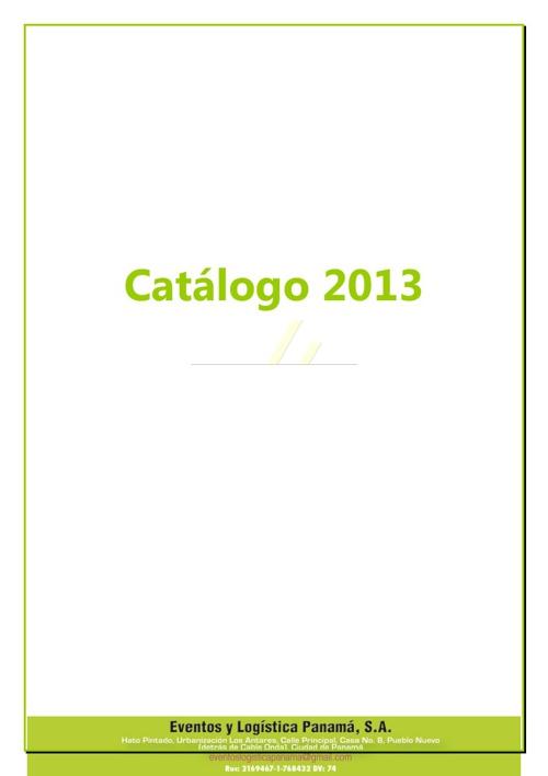 Catalogo 2013 - ELP