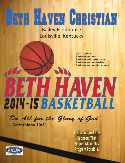 2014-15 Beth Haven Bearcat Basketball Program