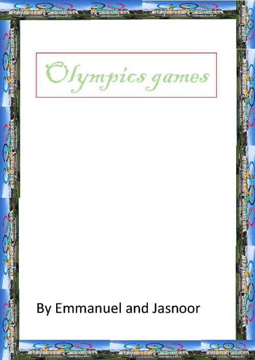 olympic by jasnoor & emmanuel