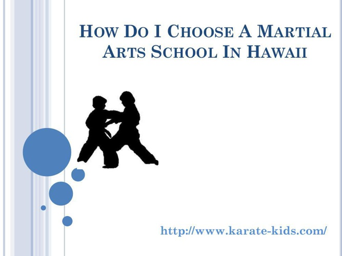 How Do I Choose a Martial Arts School In Hawaii