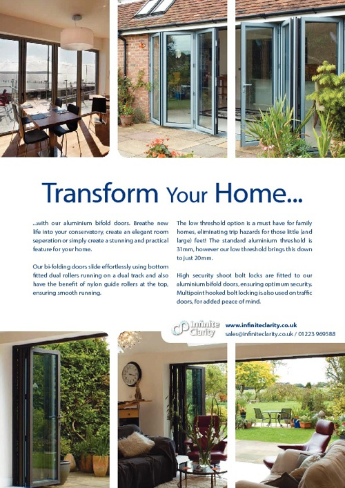 Infinite Clarity Aluminium Bifold Door Brochure