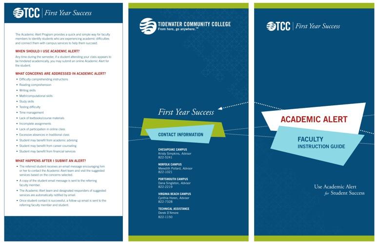 Academic Alert Faculty Guide