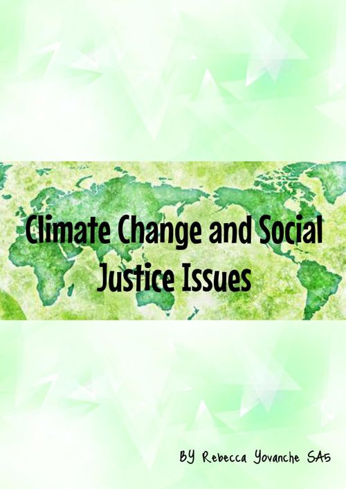 Climate Change and Social Justice Issues