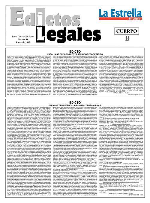 Judiciales 31 martes - enero 2017