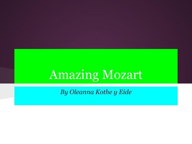 Amazing Mozart