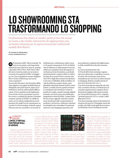 Lo showrooming trasforma lo shopping