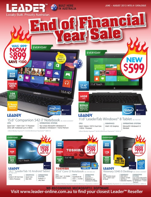 "Leader ""End of Financial Year Sale"" Catalogue 2013"