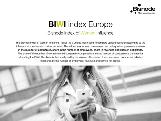 Bisnode Index of Women Influence 2017