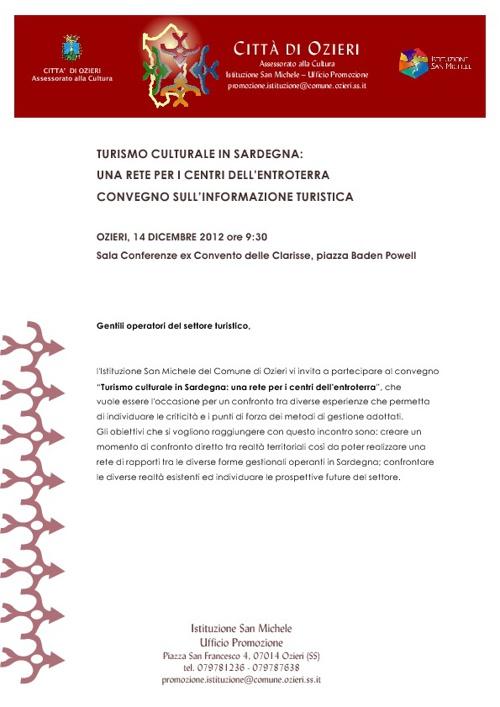 Convegno: Turismo Culturale in Sardegna