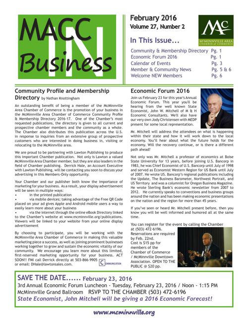 MACC In Business February 2016