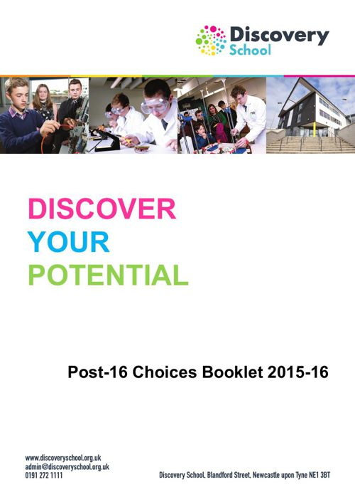Discovery School Post-16 Choices Booklet 2015-16
