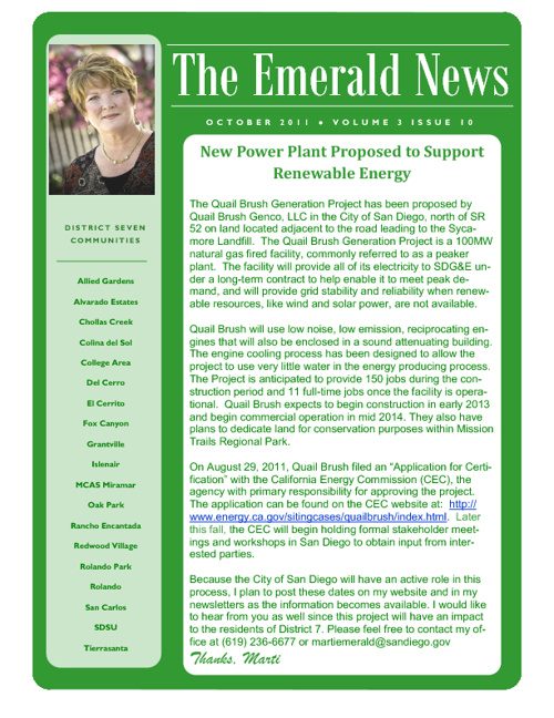 The Emerald News: Volume 3, Issue 10 (October 2011)