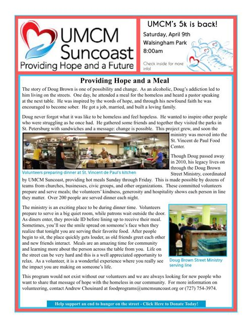 UMCM Suncoast Newsletter - February 2016