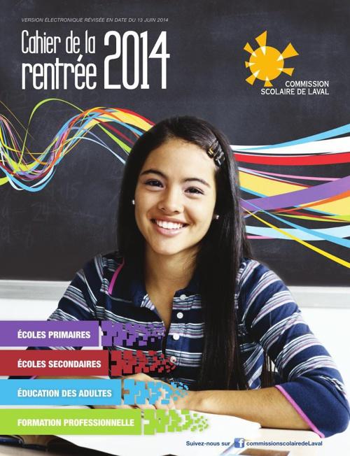 Cahier de la rentrée 2014 de la Commission scolaire de Laval