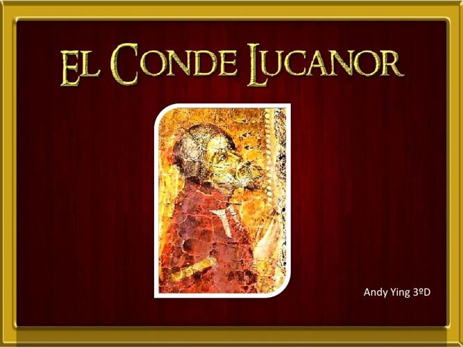 Imitación Conde Lucanor