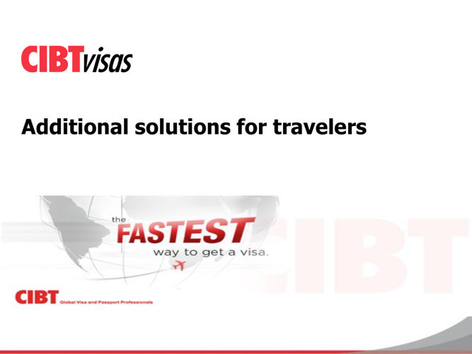 6. Additional solutions for travelers - EN - July 2016