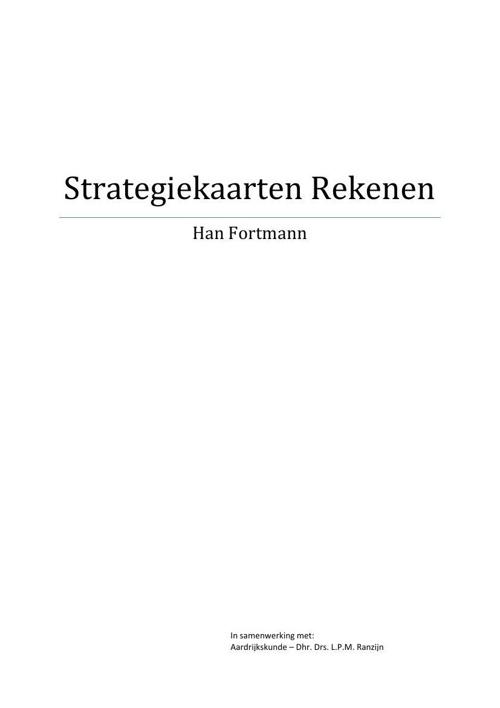 Rekenstrategiën Han Fortmann in ontwikkeling met Leo