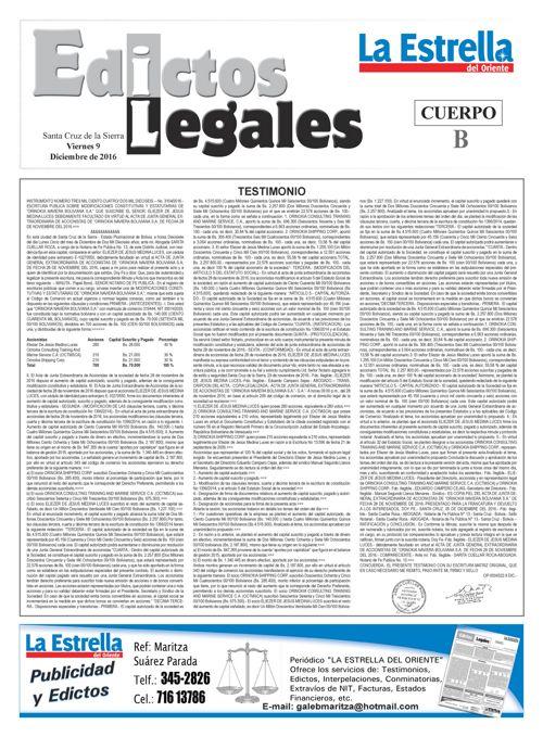 Judiciales 9 viernes - diciembre 2016