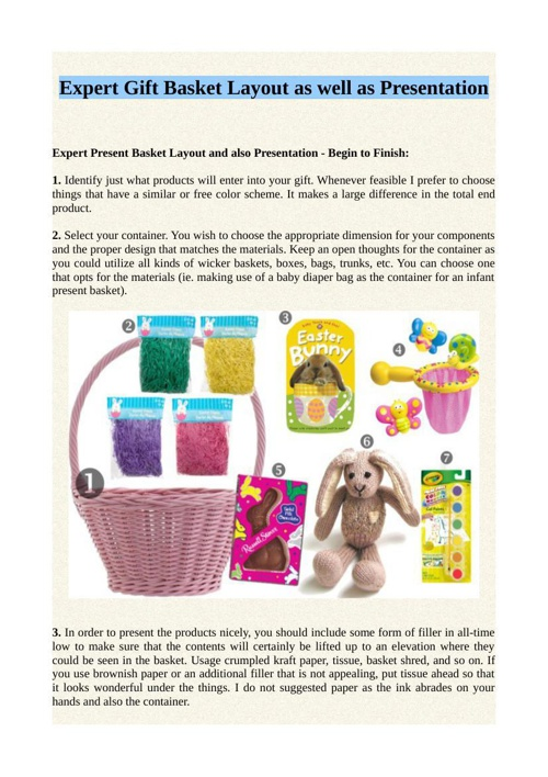 Expert Gift Basket Layout as well as Presentation