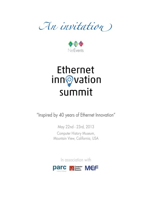 Ethernet Innovation Summit, May 22nd, 23rd