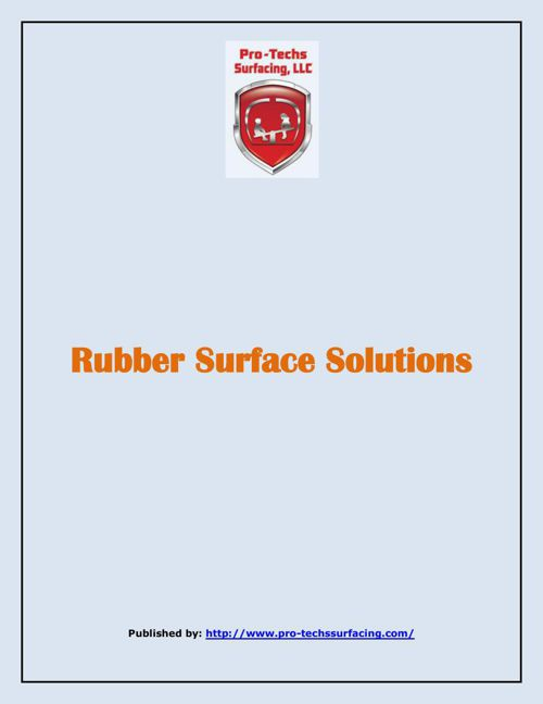Rubber Surface Solutions