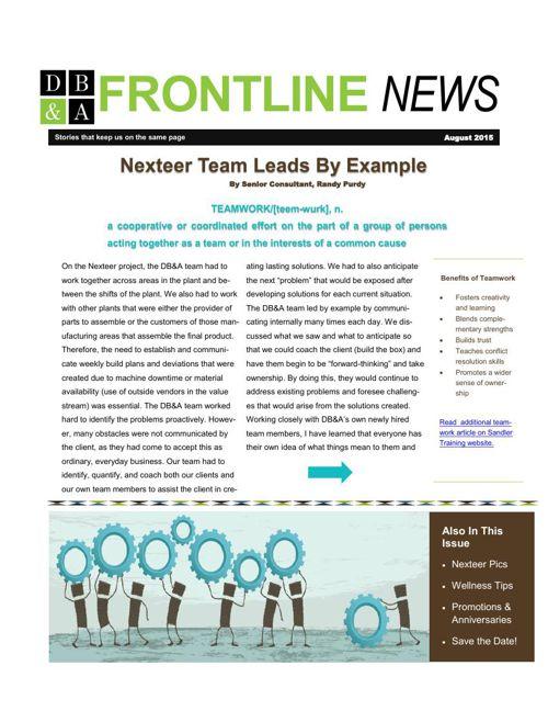 Aug 2015 Newsletter