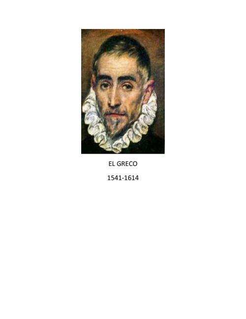 La Vida De El Greco