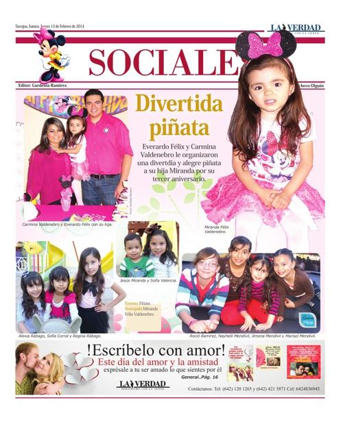 SOCIALES 13 DE FEBRERO 2014