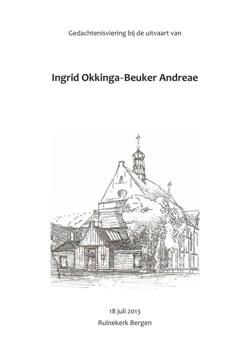 Boekje Liturgie Mw. Okkinga