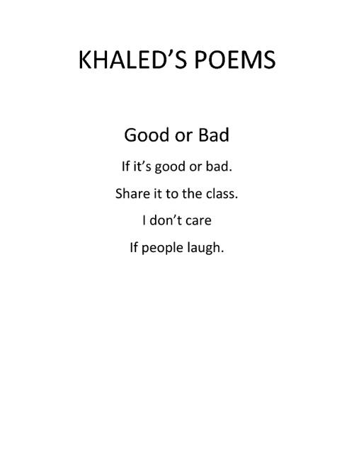khaled's poems