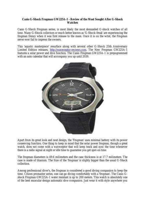 casio wv58a-1avcr wave ceptor review