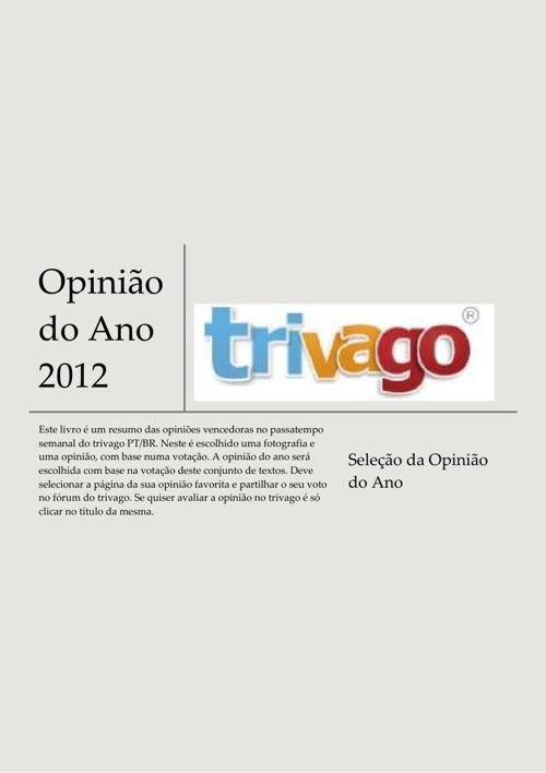 Opinião do Ano 2012 trivagoPT/BR