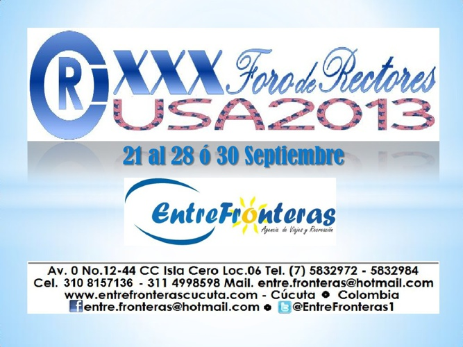 XXX Foro Rectores USA 2013