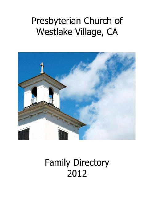 Church Directory Sample