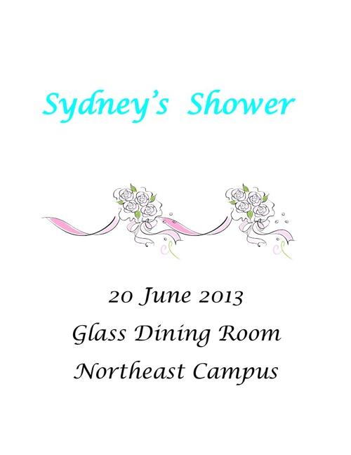 Sydney's Shower