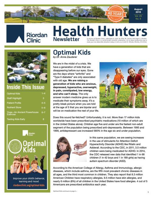 Health Hunters Aug '15