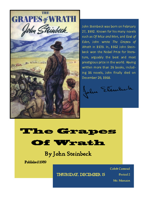 an analysis of leadership qualities as depicted in the grapes of wrath by john steinbeck and lord of The big idea - the grapes of wrath skip navigation tcm john steinbeck was born in 1902 in which portrayed life among the itinerants of monterey just after.