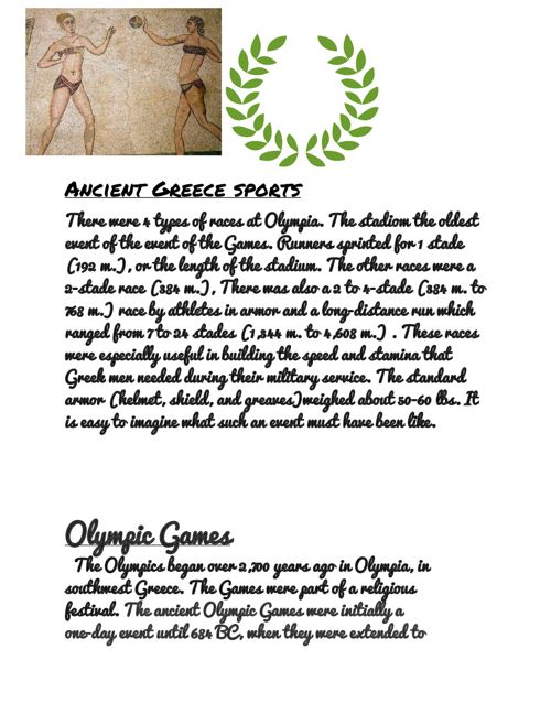 Ancient greek sports