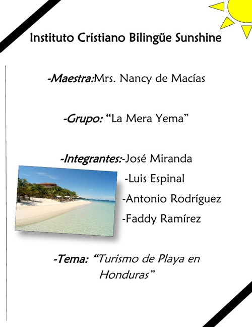 Catálogo - Turismo de Playa en Honduras