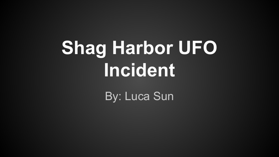 Shag Harbor UFO Incident